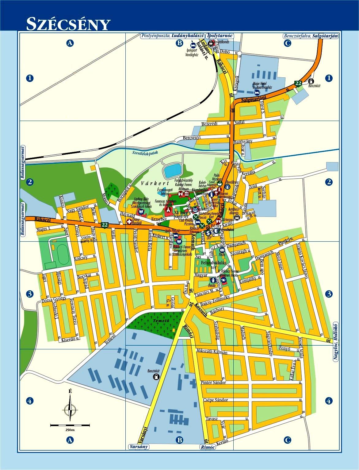 esztergom belváros térkép MAGYAR BARANGOLÓ: Szécsény esztergom belváros térkép